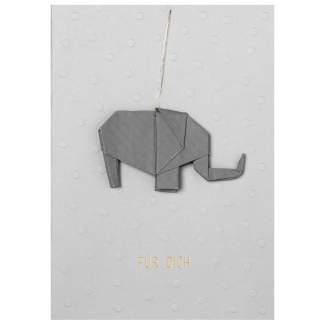 """Origamikarte """"Elefant"""""""