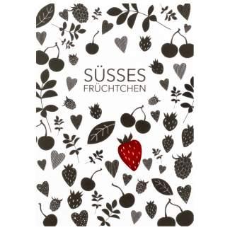 """Süße Postkarte """"Süsses Früchtchen"""""""