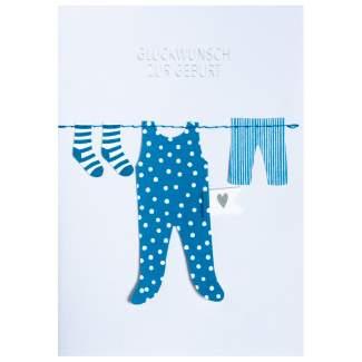 """Kleiderkarte """"Glückwunsch zur Geburt"""""""