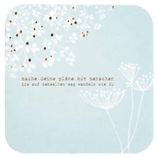 """Blütenpoesiekarte """"Mache deine Pläne"""""""