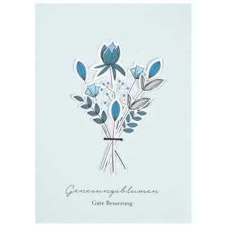 """Blumenstraußkarte """"Genesungsblumen"""""""