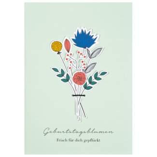 """Blumenstraußkarte """"Geburtstagsblumen"""""""