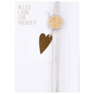 """Wunschkarte """"Alles Liebe zur Hochzeit"""""""