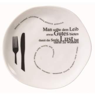 """Poesie et Table. Teller """"Man sollte dem Leib..."""""""