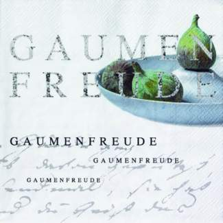 """Poesie et Table Papierserviette """"Gaumenfreude"""""""