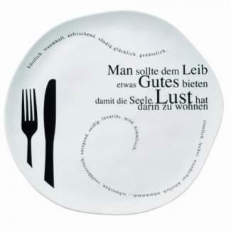 "Poesie et Table Gourmet Teller ""Man sollte..."""