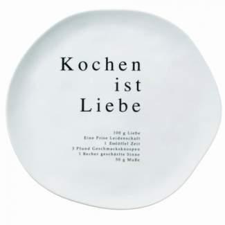 """Poesie et Table Gourmet Teller """"Kochen ist Liebe"""""""
