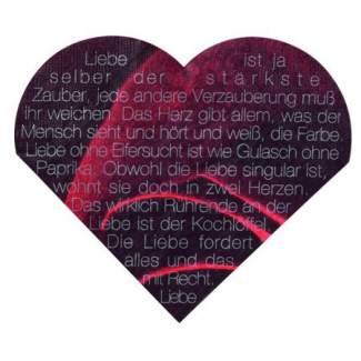 """Love Edition Herzservietten """"Rose mit Schrift"""""""