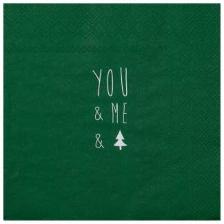 "Weihnachtsservietten ""You & Me"""