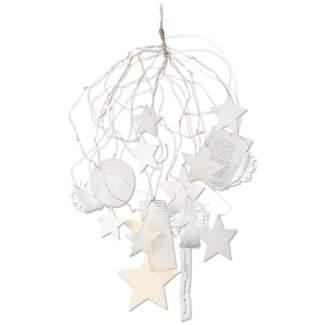 """Silber + Weiß. Sternenlichterschweif """"LED Lichter"""""""
