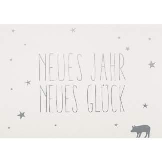 """Postkarte """"Neues Jahr, Neues Glück"""""""