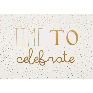 "Postkarte ""Time to celebrate"""