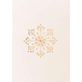 """Weihnachtspostkarte """"Schneeflocke"""""""