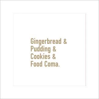 "Cocktailservietten ""Gingerbread & Pudding"""
