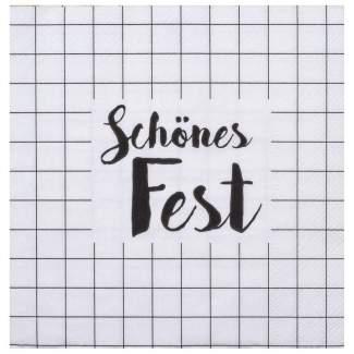 """Weihnachtsservietten """"Schönes Fest"""""""