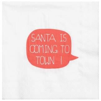 """Weihnachtsservietten """"Santa is coming..."""""""