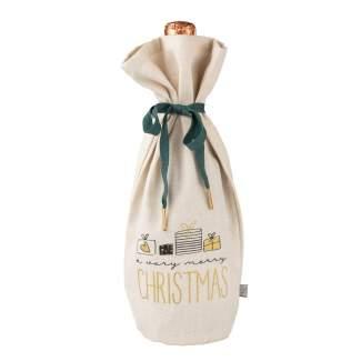 """Schöne Bescherung. Flaschenhülle """"Merry Christmas"""""""