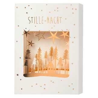 "Christmas Lasercut Karte ""Stille Nacht"""