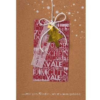 """Weihnachtskarte mit Gutschein """"Tanne"""""""