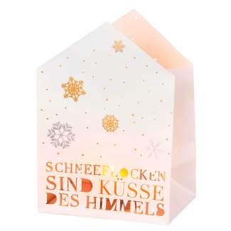 """Weihnachts Lichthauskarte """"Schneeflocken"""""""