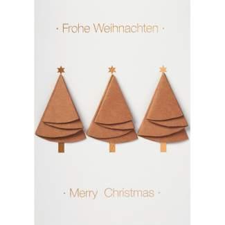 """Weihnachtsbaum Karte """"Frohe Weihnachten"""""""