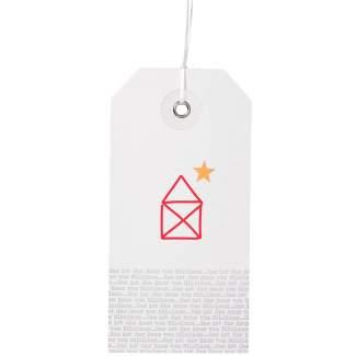 """Weihnachtshangtag Karte """"Haus vom Nikolaus"""""""