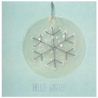 """Weihnachts Capizkarte """"Hello Winter"""""""