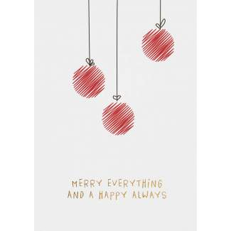 "Weihnachts Illustration Postkarte ""Merry Everything"""