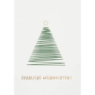 """Weihnachts Illustration Postkarte """"Fröhliche Weihnachten"""""""