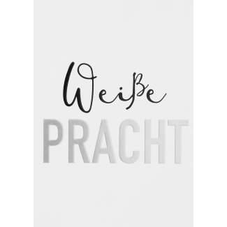 """Winterzeit Postkarte """"Weiße Pracht"""""""