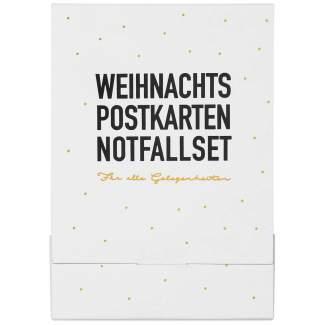 """Weihnachts Postkarten Notfallset """"Set aus 6"""""""