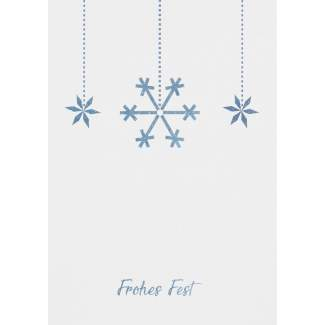 "Weihnachts Aquarell Postkarte ""Schneeflocke"""