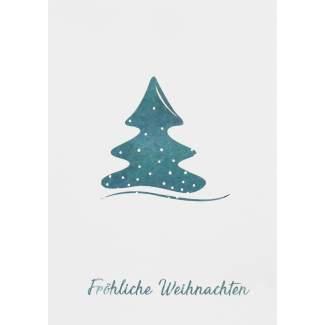 "Weihnachts Aquarell Postkarte ""Tannenbaum"""