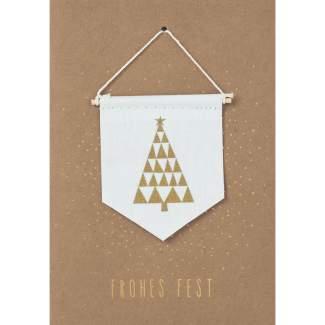 """Weihnachts Wimpelkarte """"Tanne"""""""
