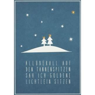 """Winter Postkarte """"All überall auf den..."""""""