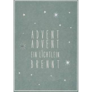 "Winter Postkarte ""Advent Advent"""