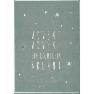 "Winter Postkarte ""Advent Advent"""