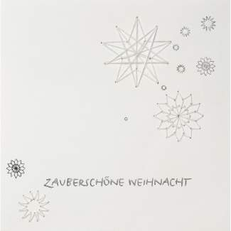 """Weihnachts Papierkunstkarte """"Zauberschöne Weihnacht"""""""