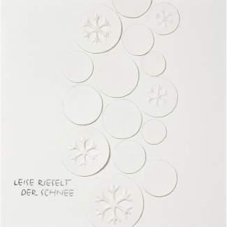 """Weihnachts Papierkunstkarte """"Leise rieselt..."""""""