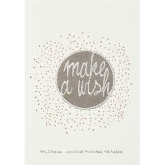 """Weihnachtsaufnäher Karte """"make a wish"""""""