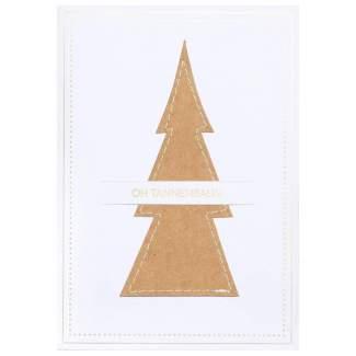 """Genähte Weihnachtskarte """"Oh Tannenbaum"""""""