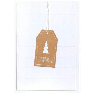 """Genähte Weihnachtskarte """"Merr Christmas"""""""
