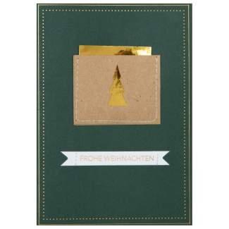 """Genähte Weihnachtskarte """"Frohe Weihnachten"""""""