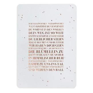 """Schneepostkarte """"Schneeflöckchen Weißröckchen"""""""