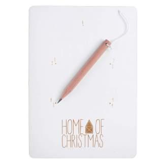 """Zeichnen & Zahlen Karte """"Home of Christmas"""""""