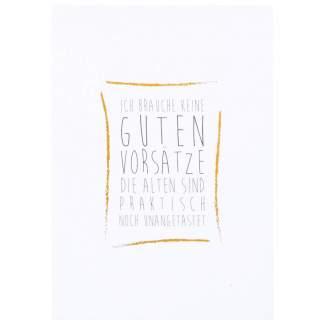 """100% Weihnachten Postkarte """"Gute Vorsätze"""""""
