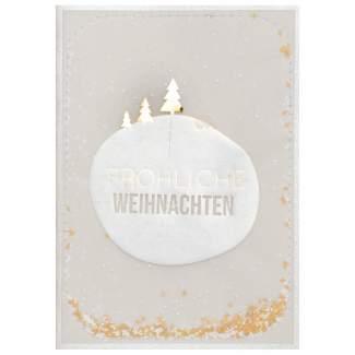 """Weihnachts Konfettikarte """"Frohe Weihnachten"""""""