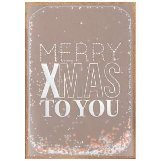 "Weihnachts Konfettikarte ""Merry xmas to you"""