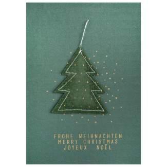 """Weihnachts Gazeanhänger Karte """"Tanne, grün"""""""