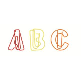 "Paper & Poetry. ABC Büroklammern ""bunt"""